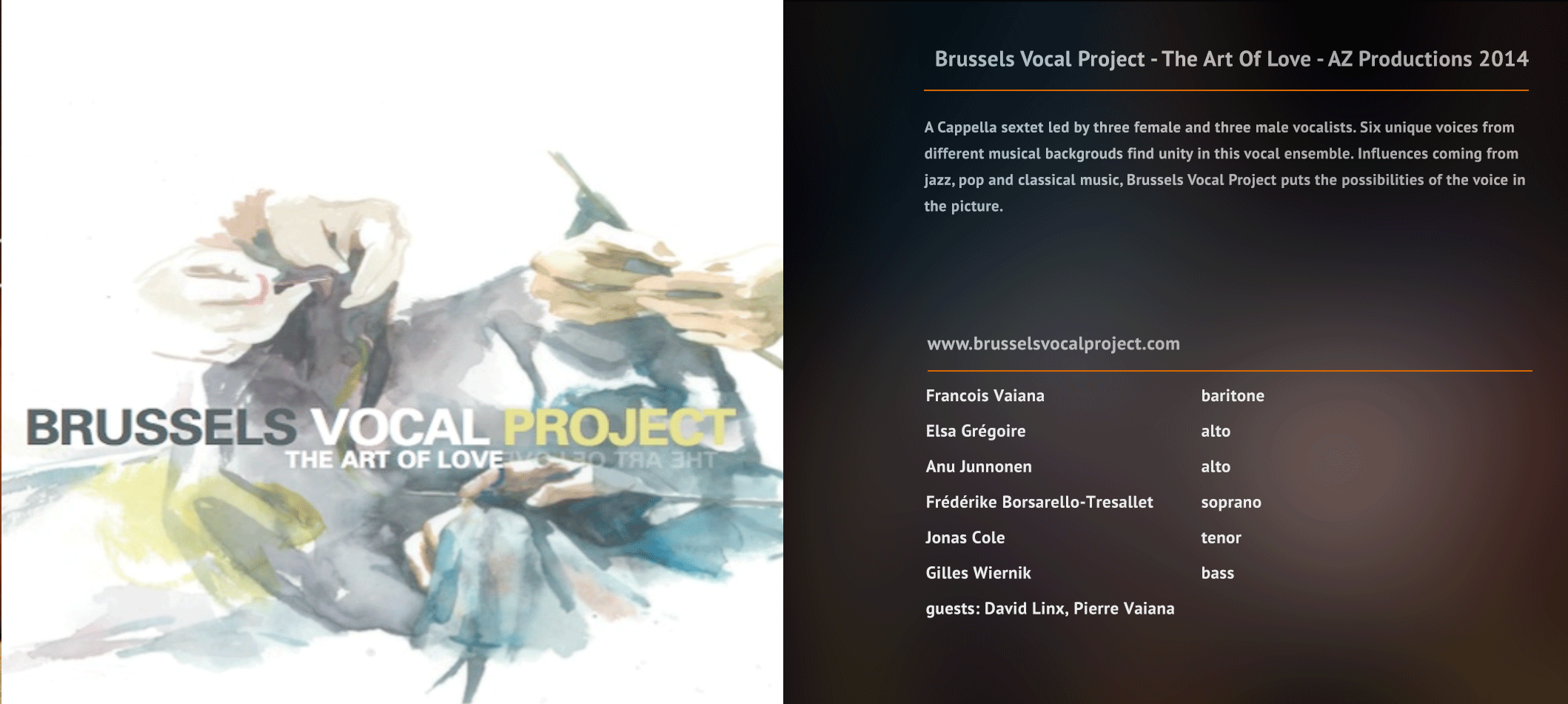 Brussels Vocal Project - The Art Of Love